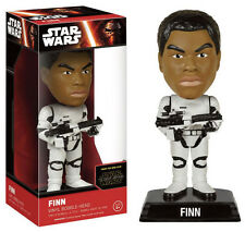 Star Wars VII Force Awakens Finn Stormtrooper Wacky Wobler Bobble Head Figure