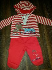 Baby Boys Christmas Outfit 3-6 Months Red & White Reindeer