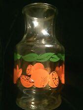 Vintage Anchor Hocking Orange Fruit Print Glass Juice Carafe