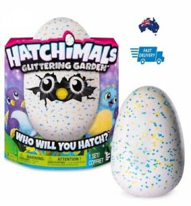 HATCHIMALS Glittering Garden SHIMMERING DRAGGLES Yellow/Blue Egg Pet DRAGGLE New