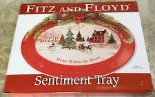 "NEW IN BOX FITZ AND FLOYD "" HOME WARMS THE HEART""  10""  CHRISTMAS PLATE"