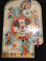 Vintage Mickey Mouse Club Marble Pinball Game Wolverine Toy Walt Disney