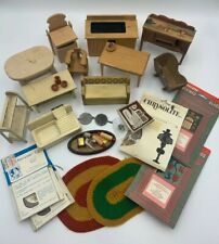New ListingVintage Dollhouse Miniature Large Lot Kitchen Living Room Furniture Accessories