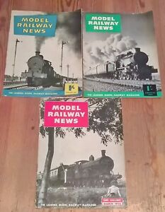 Set of 3 Model Railway News Vintage Magazines January - March 1956