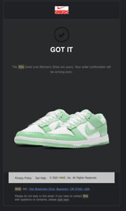 Nike Dunk Low Green Glow Rare Size 7 Mens — 8.5W (New) DD1503-105 (Confirmed)