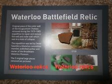 Waterloo Battlefield small piece of Hougoumont wall recovered during restoration