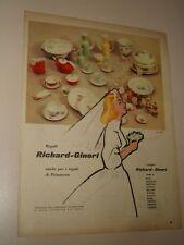 RICHARD GINORI CERAMICHE REAGALI=ANNI '50=PUBBLICITA=ADVERTISING=WERBUNG=614