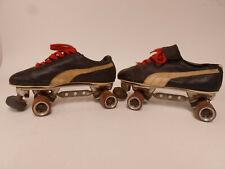 Vtg Puma Roller Skates Shoe size mens 10 Sure Grip XK4 PLATES size 7 XK-4