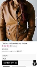 lauriebelles chelsea deboer cognac leather jacket small