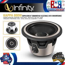 "Infinity Kappa 800W 8"" 200mm High-Performance Car Audio Subwoofers"