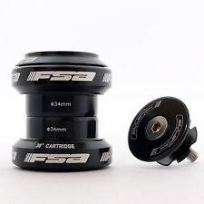 "Mr-ride FSA Orbit MX 34mm Threadless Headset With Top Cap 1-1/8"" Black"