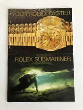 ROLEX Libretto Booklet SUBMARINER YOUR ROLEX OYSTER 1993 ORIGINALE