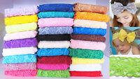 1 Yard of 8cm Elastic Stretch Lace Trim Ribbon Fabric Decor Crafts Sewing DIY