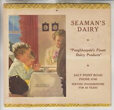 1956 CALENDAR - SEAMAN'S DAIRY - SALT POINT ROAD - POUGHKEEPSIE NEW YORK