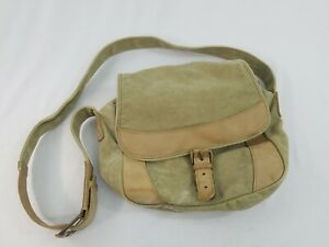 VTG L.L. Bean Canvas Satchel Messenger Cross Body Shoulder Bag Tote Lap Top RARE