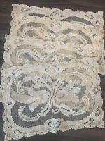 Antique Art Nouveau Doilies Set Mats Table Net Doily Arts Crafts Victorian Decor