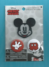 New Mickey Mouse Disney patch and pin set