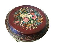 """BARRINGER WALLIS & MANNERS ca. 1900 French Country Tin MANSFIELD England 5"""" Dia."""