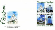 Niuafo'ou 2016 FDC Christmas Churches 4v Cover Buildings Architecture Stamps
