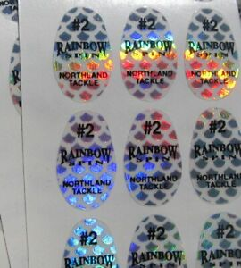 #2 Northland Tackle Replacement Silver Rainbow Scale Decals-Lot of 147 B6