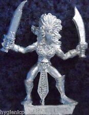 1989 DARK ELF mm73 nous 3 sorcière MARAUDEUR GUERRIER armée Elfes drow Warhammer Citadel