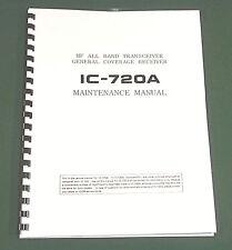 "Icom IC-720A Service Manual: 11"" X 24"" Schematics, Protective Plastic Covers!"