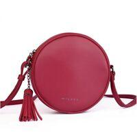 Women's Fashion Cross Body Handbags Round Small Tassel Shoulder Messenger Bags