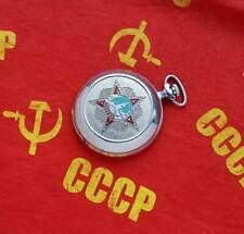 Vintage Russian mechanical pocket watch MOLNIJA. Great Patriotic War 1941-1945