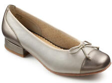 HOTTER Idyllic Ballet Pumps Shoes Sz 6.5 New in Box Soft Gold Bow Low Heel