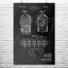 Nixie Tube Poster Print Hardware Art Engineer Gift Electronics Decor