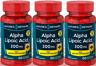 3  Acide Alpha Lipoique plus biotine libération rapide, 300 mg, 60 Gélules