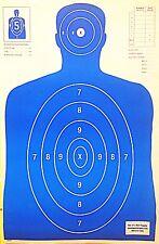 Shooting Targets Blue Silhouette Gun Pistol Rifle Range B-27 Qty:100 23x35