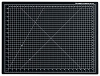 "Dahle 18 x 24"" Vantage Black Self-Healing Cutting Mat - 10672"""