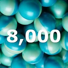 "PAINTBALLS 4 Boxes 8000 FIELD GRADE PAINTBALL BLUE SIZE 0.68"" BALLS"