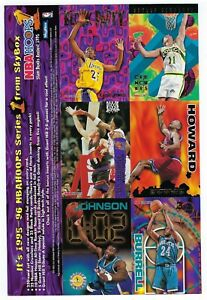 1995 SkyBox  NBA HOOPS Basketball Series 1 Cards Over Size PROMO Card Sheet.