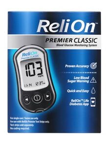 ReliOn PREMIER CLASSIC Blood Glucose Monitoring System 👍 FREE SHIPPING 📦!