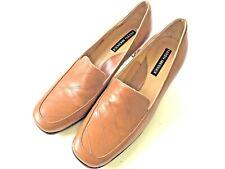 Sesto Meucci Womens pumps Block Heel Italian Shoes Leather 7 M EUC Tan