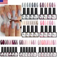 4-6 Colors UR SUGAR UV Gel Nail Polish Purple Pink Base Top Gel Nail Varnish Set