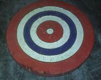 Cible ancienne en bois cocarde - Multicolore Bleue Blanc Rouge - Diamètre 20 cm