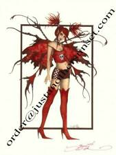"Amy Brown Print Fairy Catastophe Punk Signed Fantasy Mayhem 8.5""x11"" New"