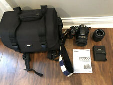 Nikon D D5500 24.2Mp Digital Slr Camera - Black (Kit w/ Asf-Nikkor 50 mm 1:1.8)