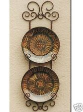 Wrought Iron French Wall Plate Holder Rack Display 74cm