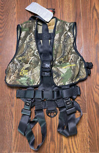 Hunter Safety System Tree Stand Harness Camo. NWT. Size L/XL. HSS7.