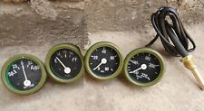 Willys MB Jeep GPW Ford CJ2A CJ3A Gauges Kit Temperature Oil Fuel Ampere OLIVE