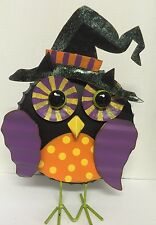 Halloween Owl Witch Desktop Home Tin Colorful Decor New 3D