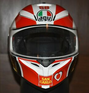 AGV K3 SV Marco Simoncelli Motorcycle Helmet Large MINT!!!  HARD TO FIND