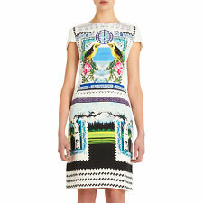 Mary Katrantzou Silk Digital Print 'Rodizio' fitted dress Size UK 14 US 10