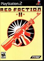 Red Faction II 2 (Sony PlayStation 2, PS2, 2002, THQ, Pre-owned, 1-4 Players)