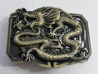 ✖Awesome Antigue bronze black color DRAGON COOL Belt Buckle Full Metal US seller