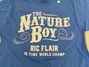 Ric Flair The Nature Boy T-Shirt S Small T-Shirt 16 Time World Champ WWE NXT WCW